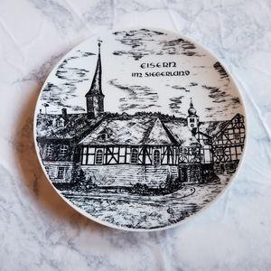 Germany Plate Village Art Siegerland DP Porzella